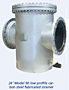 "24"" Model 90 Low Profile Carbon Steel Fabricated Strainer"