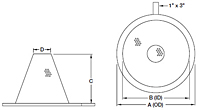 Dimensional Drawing for Model 92 Basket Type Temporary Strainers